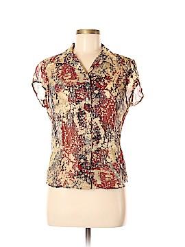 Emanuel by Emanuel Ungaro Short Sleeve Silk Top Size 6