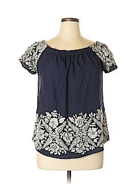 Allison Joy Short Sleeve Blouse Size L