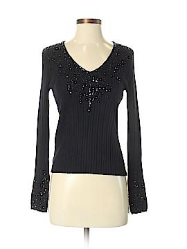 Ellen Tracy Long Sleeve Silk Top Size S (Petite)