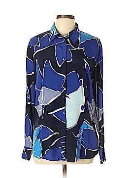 Escada Long Sleeve Silk Top Size 44 (EU)