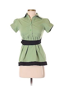 Meg Short Sleeve Button-Down Shirt Size S