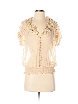 Leifsdottir Short Sleeve Silk Top Size 8