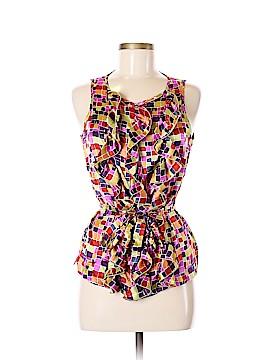 Jennifer Reale Design Sleeveless Silk Top Size 8