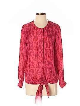 Brochu Walker Long Sleeve Silk Top Size S