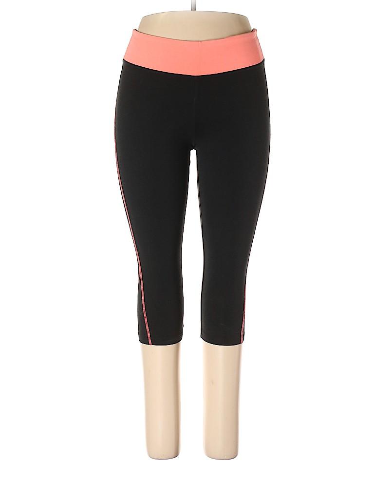 90a42a76618e8 Victoria's Secret Pink Print Black Yoga Pants Size L - 52% off | thredUP