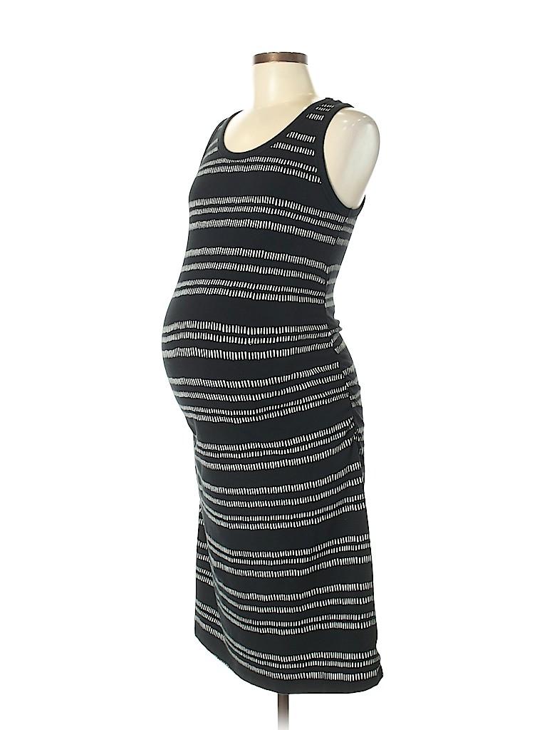 26f19ccf9220d Liz Lange Maternity Stripes Black Casual Dress Size M (Maternity ...