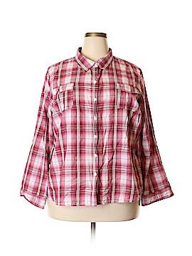 Cato Long Sleeve Button-Down Shirt Size 22 - 24 Plus (Plus)