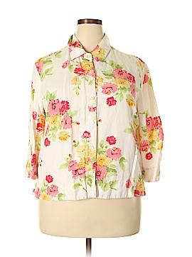 Emma Jane 3/4 Sleeve Button-Down Shirt Size 18 (Plus)