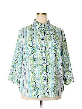 Alia 3/4 Sleeve Button-Down Shirt Size 20w (Plus)