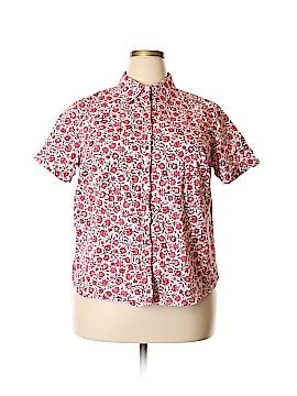 Charter Club Short Sleeve Button-Down Shirt Size 18W (Plus)