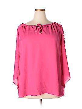 Sharagano Studio 3/4 Sleeve Blouse Size 2X (Plus)
