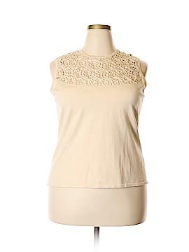 Katherine Kelly Collection Sleeveless Silk Top Size XL