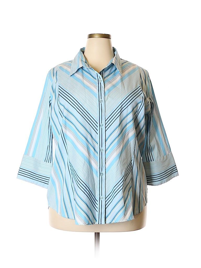Cotton Express Women 3/4 Sleeve Blouse Size 3X (Plus)