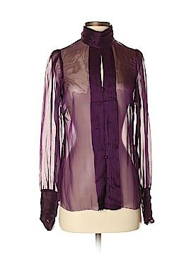 Vertigo Paris Long Sleeve Silk Top Size XS
