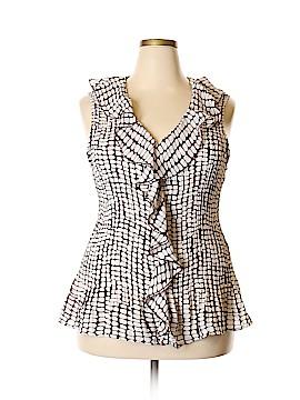 Sunny Leigh Short Sleeve Blouse Size 3X (Plus)