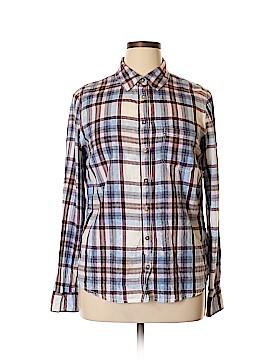 LOGO Long Sleeve Button-Down Shirt Size 14