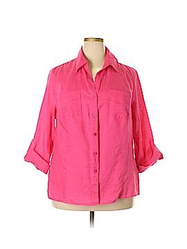 DressBarn Long Sleeve Button-Down Shirt Size 18 - 20 (Plus)
