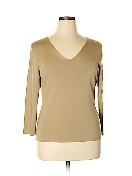 Josephine Chaus Long Sleeve Silk Top Size XL