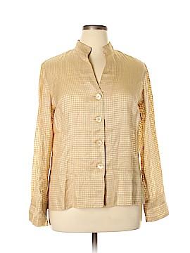 Jones New York Collection Long Sleeve Silk Top Size 12