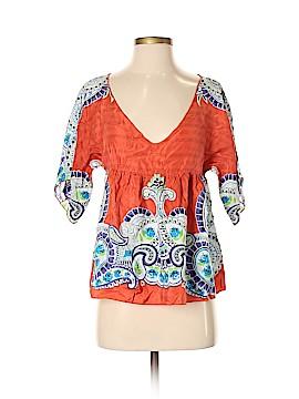 IRO Short Sleeve Silk Top Size XL (4)