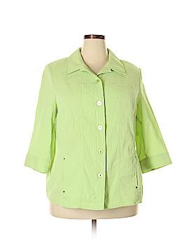Allison Daley 3/4 Sleeve Button-Down Shirt Size 20W (Plus)