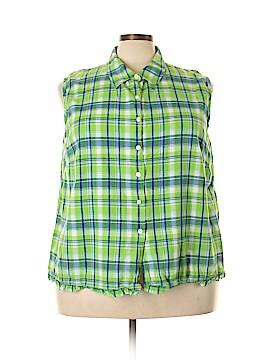 Carolina Colours Sleeveless Button-Down Shirt Size 26W (Plus)