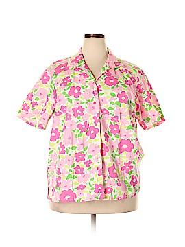 Elisabeth by Liz Claiborne Short Sleeve Button-Down Shirt Size 20 (Plus)