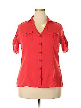 JMS Collection Short Sleeve Button-Down Shirt Size 1X (Plus)