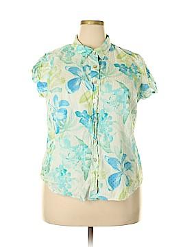Jamaica Bay Short Sleeve Button-Down Shirt Size 1X (Plus)