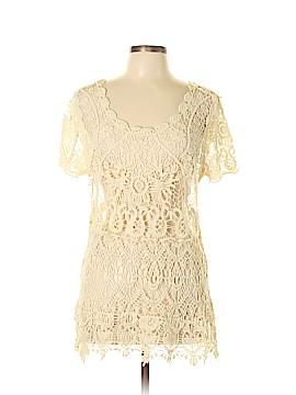Ultra Pink Short Sleeve Blouse Size XL