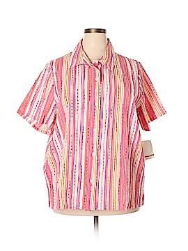 Breckenridge Short Sleeve Blouse Size 3X (Plus)
