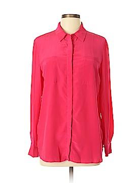 Barneys New York Long Sleeve Blouse Size L