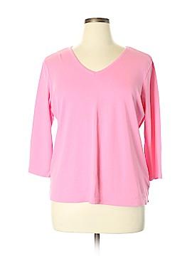 Liz Claiborne 3/4 Sleeve T-Shirt Size 1X (Plus)