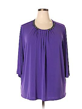 Liz & Me 3/4 Sleeve Blouse Size 2X (Plus)