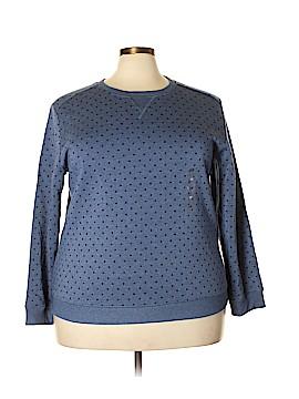 Karen Scott Sport Sweatshirt Size 1X (Plus)