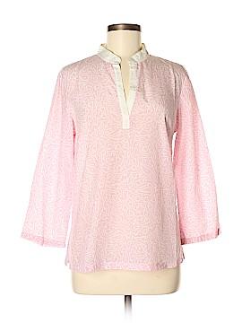 J. McLaughlin Long Sleeve Silk Top Size 8