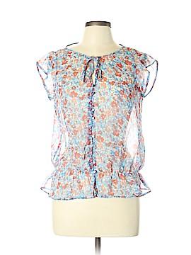 Zara TRF Short Sleeve Blouse Size L