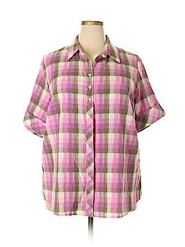 Alia Short Sleeve Button-Down Shirt Size 22w (Plus)