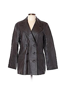 Newport News Leather Jacket Size L