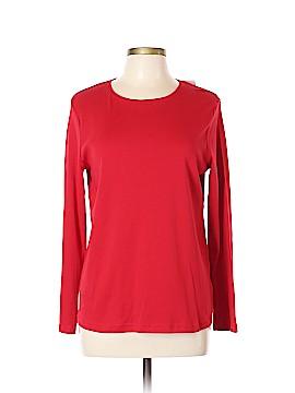 Croft & Barrow Long Sleeve T-Shirt Size L (Petite)