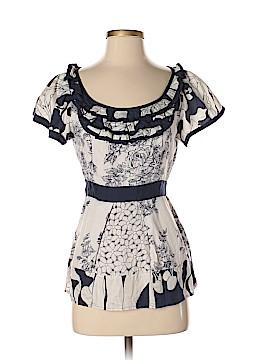 Baraschi Short Sleeve Silk Top Size 8