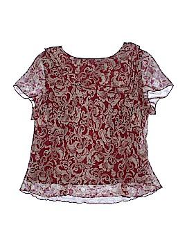Sag Harbor Short Sleeve Blouse Size 20w (Plus)