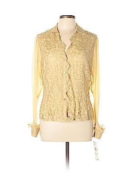 Anne Klein Long Sleeve Silk Top Size 12