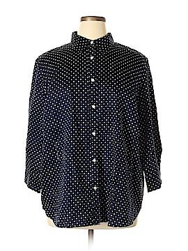 Champs 3/4 Sleeve Button-Down Shirt Size 3X (Plus)