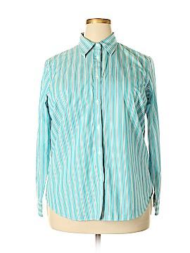 Chaps Long Sleeve Button-Down Shirt Size 1X (Plus)