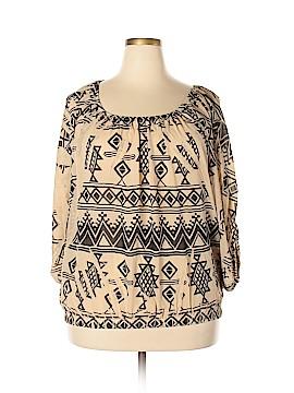 Janette Plus 3/4 Sleeve Blouse Size 3X (Plus)