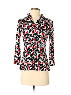 Alfani 3/4 Sleeve Button-Down Shirt Size S (Petite)
