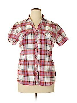 Miamia Short Sleeve Button-Down Shirt Size 3X (Plus)