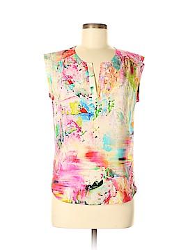 Amanda Uprichard Short Sleeve Silk Top Size M