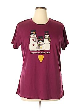 Basic Editions Short Sleeve T-Shirt Size 1X (Plus)